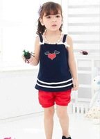 Girl dress/ Girls' suspender skirt/ Kid clothes/ Children sleeveless dress