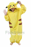 Free Shipping Japan Adult Original Kigurumi Pikachu Pajama Party Halloween Costumes For Kids Cosplay Christmas Gift For Children