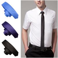 2014 New Style Fashion! Formal Wedding Party Groom Men's Solid Color Gravata Slim Plain Men Tie Necktie 20 Colors