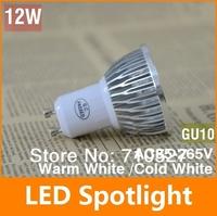 1 pcs  85-265V 12W GU10 Warm White/White LED Lamp  Spotlight Bulb Free Shipping