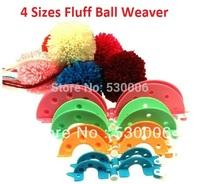 8Pcs/set 4 Sizes Essential Pom-Pom Pompom Maker Fluff Ball Weaver Needle Craft Knitting Tool DIY Set- Random Color