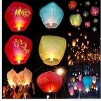free shipping wholesale hot sale novelty lighting Wishing lamp extra large day lights lotus lamp flame retardant paper heart