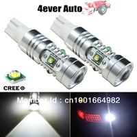 2pcs/lot Super Brightness White High Power 25W CREE XP-E T10 194 W5W 912 921 T15 LED Bulbs for Car Back Up Backup Reverse Lights
