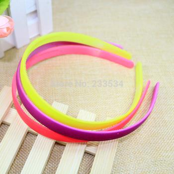 1 piece cute candy color plain ABS plastic headband with teeth high quality kids hair accessories hair band cheap price