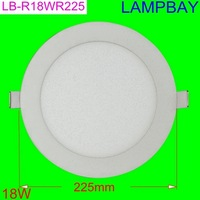 LED panel light 18W round 8'' 225mm cut out 200mm slim downlight  with driver high lumens two years warranty
