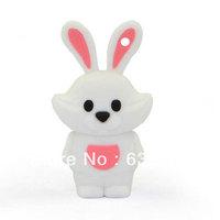Zodiac Cute rabbit funny animal gift usb flash drive custom/promotional plastic u disk 4GB 8GB 16GB usb stick  Free Shipping