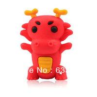 Zodiac cartoon China Red dragon funny animal gift usb flash drive custom/promotional animal usb memory stick 4GB 8GB 16GB