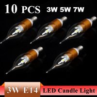 3W E27/E14 AC85~265V High strength power Warm White/ White LED Candle Bulb Light Sliver/Golden Lamp LED spot Light Drop Shipping