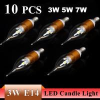 3W E27/E14 AC85~265V High strength power Warm White/ White LED Candle Bulb Light Sliver/Golden Lamp LED spot Light Drop Shipping