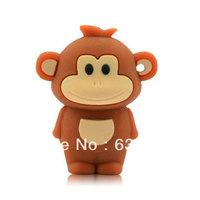 Zodiac Cute smile monkey personalized funny animal usb flash drive disk custom or promotional plastic usb stick 4GB 8GB 16GB