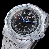 2014 Freeship Wholesale Men's Full Steel Watches Luxury Brand EPOZZ Analog Digital Quartz Double Movement Sports Watches Reloj