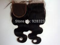 DHL FREE SHIPPING 4x4 lace Front Closure free shipping 6A virgin malaysian hair 4 lot  malaysian body wave virgin hair closure