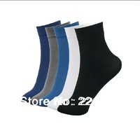 Wholesale High Quality 20Paris/Lot Men Stockings Ultra Thin Bamboo Fibre Business Socks men's Cotton Socks 30cm-32cm Free
