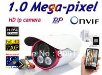 Free shippin CCTV H.264 1.0 Megapixel 1280*720 IP Network Outdoor Night Vision Security IR Camera