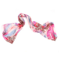 Free Shipping, Wholesale Ladies Leopard Printing Imitation Silk Scarf , Women Fashion Spring/Autumn Scarf
