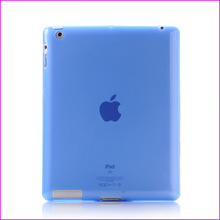 Free shipping 1pcs High Quality Soft TPU Transparent Jelly Case Cover For ipad 2 ipad 3 ipad 4 6 Colors(China (Mainland))