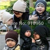 new autumn hat women's&baby Beanies Kids cap 1 Pcs/lot Cotton thread cap children hat/elastic hat for 0-3 years old &adult/AOJ