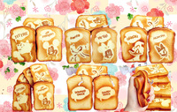Super Squishy!!14CM Jumbo Sweet Scented Cartoon Toast Squishy Cell Phone Charm