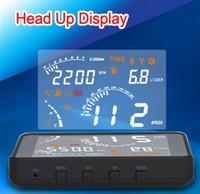 2014 Newest Item Voice Prompt Bluetooth Wireless OBDII&EOBD Insert HeadUp Display HUD S301 Fuel Consumption Speed Car English