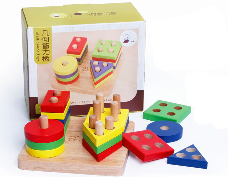 Baby Toys Hot Sale Education Wooden Toys Plan Toy Geometric Sorting Board 2 Kind For Choose Wooden Blocks Birthday Gift(China (Mainland))