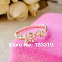Min.order is $5(mix order) 15mm size fashion cute music-symble ring jewelry for women J1313