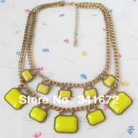 no min order wholesale fashion new 2014 gifts bib statement antique gold plated bohemian cute multilayer  accessories for wmen
