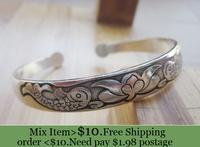 ZH0595 IVY Store  Tibetan silver bracelet Vintage style bangle& bracelet