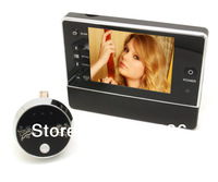 "3.5"" T118 TFT LCD screen digital door peephole viewer camera Nightvision 120 wide angle+Video Record+Photo shooting,free ship"