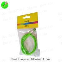 Customized 30cm  soft pencil in opp bag with paper card LH-343