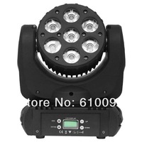 Free Shipping 4pc/Lot High luminanc 7x12W RGBW LED Moving Head Beam Light,7pcs 12W 4in1 RGBW Osram LED Beam Moving Head