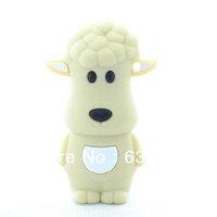 Cute lamb cartoon sheep gift funny animal usb flash drive disk custom or promotional plastic usb stick4GB 8GB 16GB Free Shipping