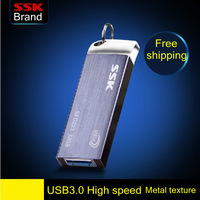 Ssk usb3.0 usb flash drive 100% 64g usb flash drive metal high speed  100% 128g usb flash drive Free Shipping