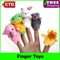 Cartoon Animal Finger Puppet Finger Toy Finger Doll Baby Dolls Baby Toys Bed Story Toys