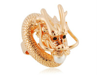 Free Shipping Exquisite Workmanship and Stylish Design Dragon Golden Ring       LHP-1904D