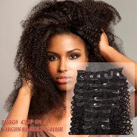 Wholesale 9pcs 120g Clip In hair Extensions 100% Brazilian virgin human hair/ Unprocess virgin human hair clip hair wefts