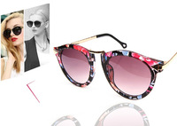 2014 Brand gafas New Fashion Super Sunglasses Designer Women Cat Eye 7 Colors oculos 32210