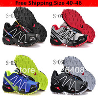 2013 New Arrived Salomon speedcross CS 3 Running Shoes Men's Athletic Shoes And Men Hiking Shoes Free Shipping Size 36 to 46