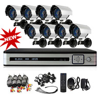DIY 800TVL Camera CCTV System(8CH H.264 Network DVR, 8 Security Cameras IR Cut)