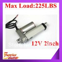 Hot sale 50mm/ 2inch stroke, 1000N/ 225lbs, 12VDC/24VDC linear actuator