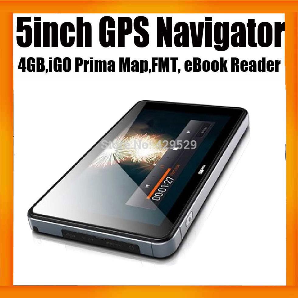Freeshipping 5inch HD Car GPS Navigator 800X480 MTK Chipset Wince 6.0 128MB 4GB Free Map Drop Shipping(China (Mainland))