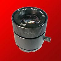 Free shipping 12MM 3MP cctv lens 1/2.5'' F1.4 CS fixed IRIS 3.0 megapixel  cctv lens for IR bullet mega pixels security camera