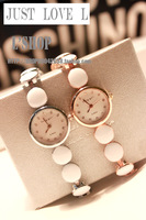Free shipping gold silver watch bracelet watches fashion jewelry watches