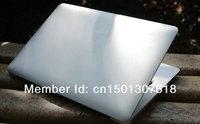 Free shipping 13.3 inch Aluminium ultrabook slim Laptop notebook Intel celeron 1037U 4GB SSD 128GB windows 7/8 notbook computer