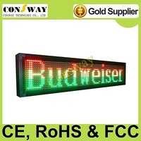 DHL freeshipping and CE approved outdoor led programmable screen with RGY tricolor, programmable and scrolling message