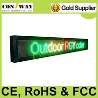 FedEx freeshipping and CE approved outdoor programmable led display screen with RGY tricolor, programmable and scrolling message