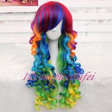 popular rainbow wig