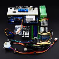 free shipping Starter Kit for Arduino/ Step Motor /Servo/ 1602 LCD/ Breadboard/ jumper Wire/ UNO R3
