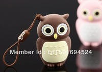 1PCS/LOT Novel lovely Owl USB Flash Pen Drive 4GB 8GB 16GB 32GB 64GB 128GB Free Shipping (Assorted Color)