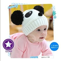 fall 2013 kids winter casual panda hats for kids,autumn-summer children accessories,photo props,baby cap,child hat winter