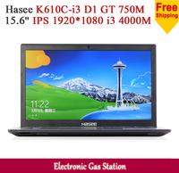 """Hasee Intel i3 4000M 4G DDR3 500G HDD 15.6"""" IPS 1920*1080 NVIDIA GT 750M 2G GDDR3 USB3.0 Webcam Laptop"""